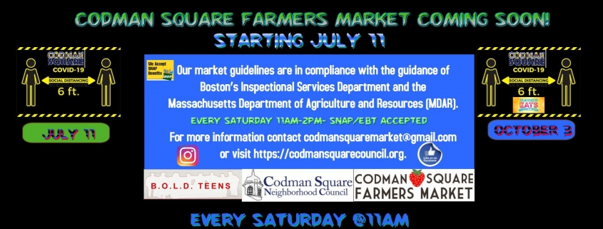 codman square farmers market flyer