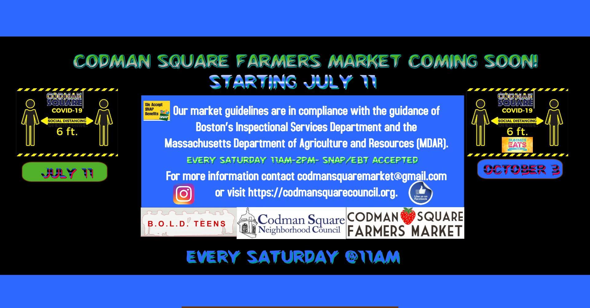 codman square farmers market flyer
