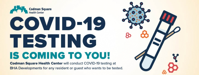covid-19 testing banner