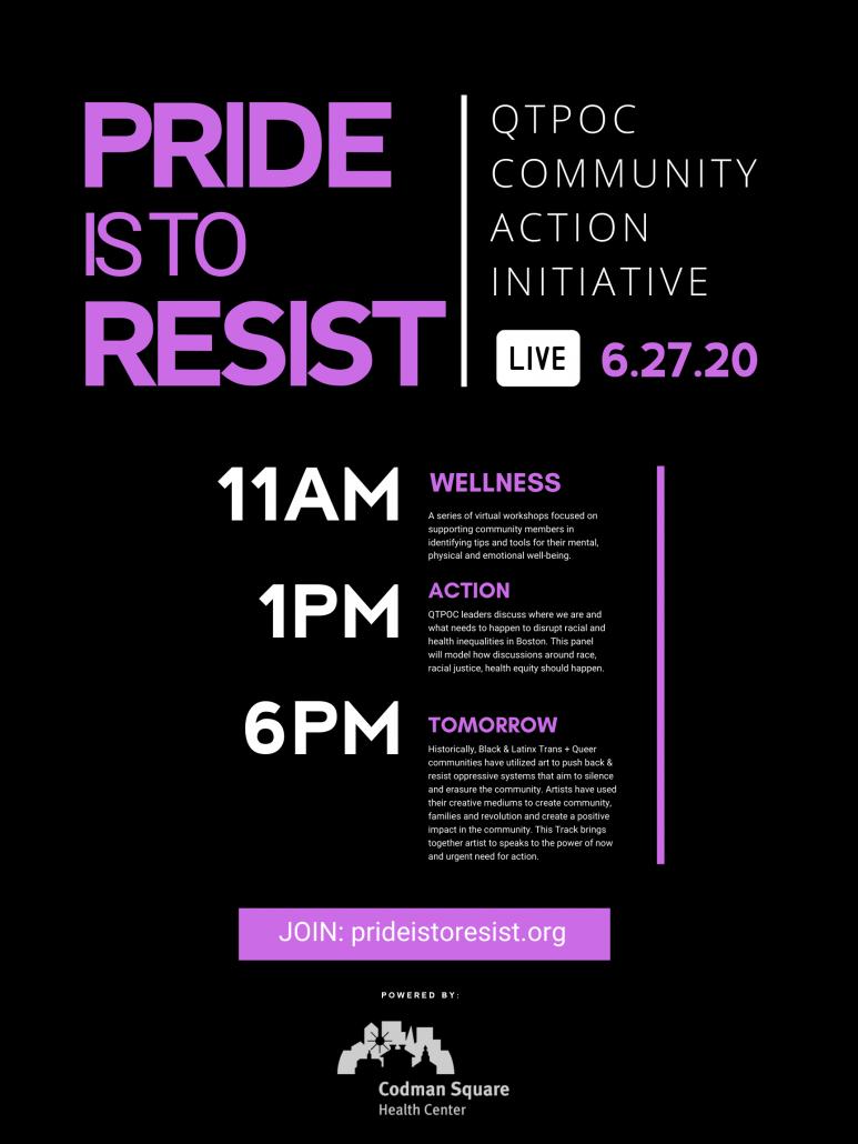Pride Is To Resist schedule