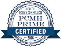 PCMH PRIME Certified 2016 seal