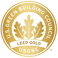 U.S. Green Building council LEED Gold seal