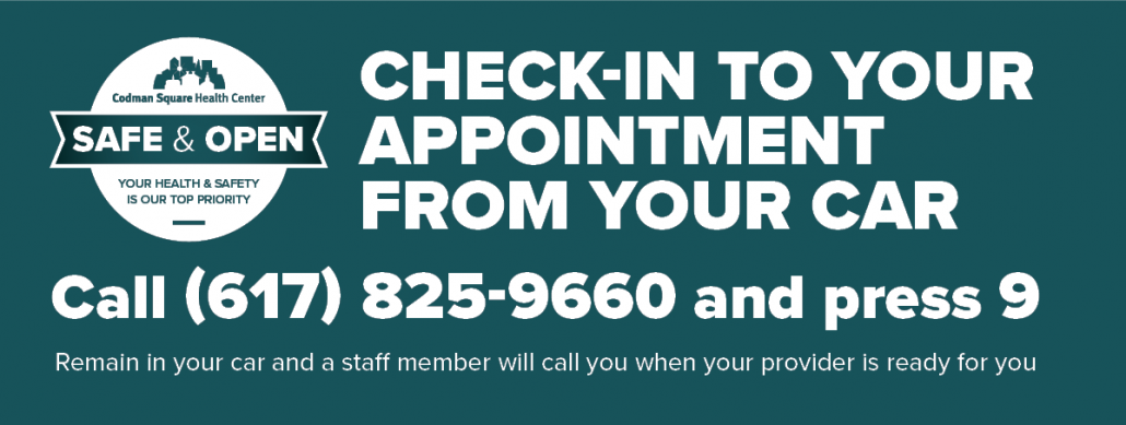 Curbside check-in for appointments