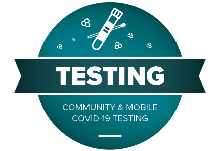 graphic advertising testing for community and mobile covid-19 testing