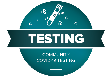 graphic advertising community covid-19 testing