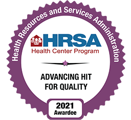 HRSA Advancing Hit for Quality badge